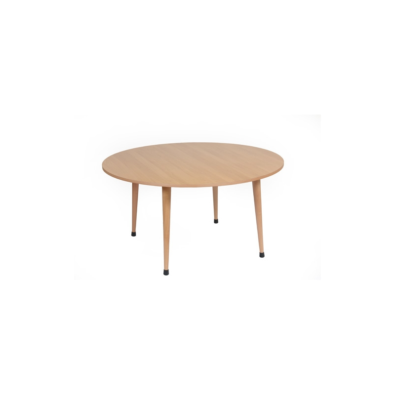 TABLE COLLECTIVE C3 S JAUNE RONDE 115 x 59 cm