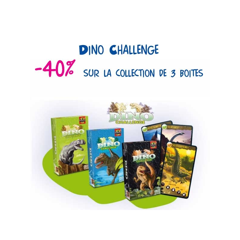 Dino Challenge collection 3 boîtes